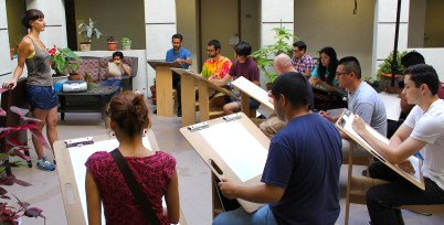 Picture of students in a drawing class