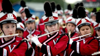 These are students participating in the Marching Band.