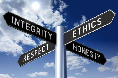 This image demonstrates the key characteristics in ethics.