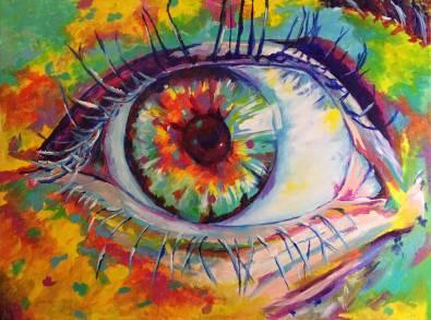 An illustration of a human eye.