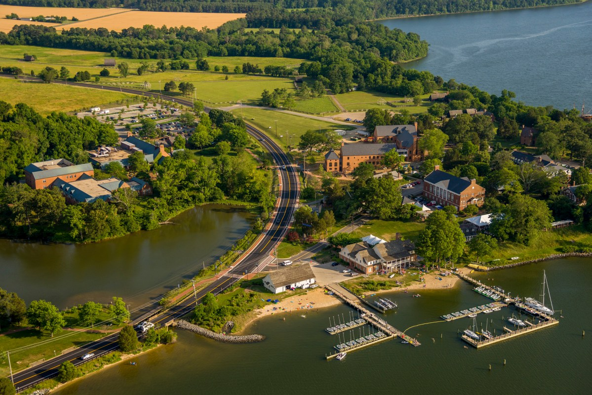 Aerial view of St. Mary's College of Maryland