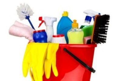 An image of cleaning supplies.