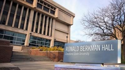 The main entrance to the Berkman Hall