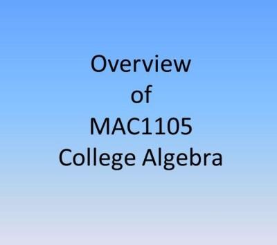 College Algebra is one of the unpopular classes