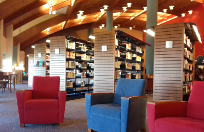 This is inside this spacious library
