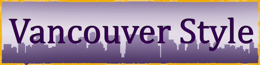 An image of the Vancouver referencing style logo