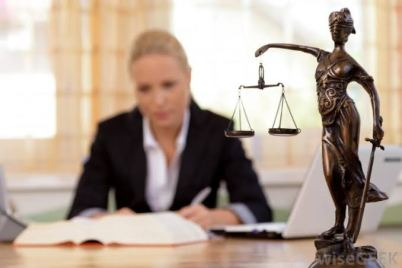 Lady Justice and a lawyer