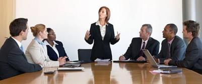 A board of directors meeting
