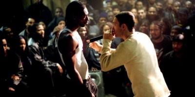 two people in a rap battle