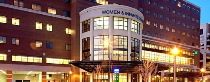 beautiful building of UAB women and infant center at night