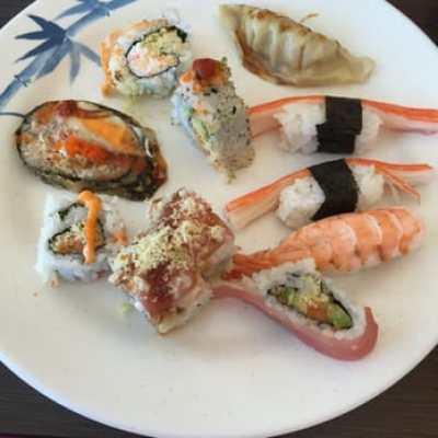 Food at Hibachi restaurant