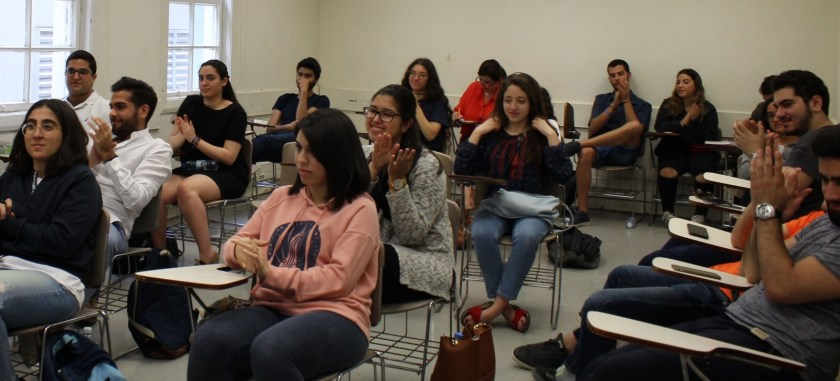 Students in an oral communication class