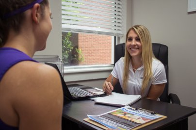 A dietician giving advice to a student