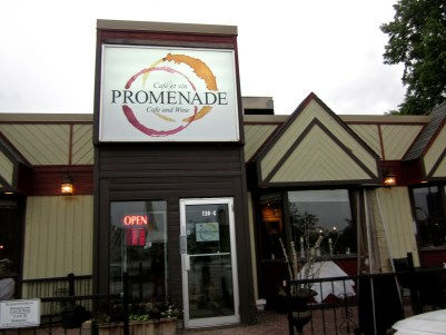 The front view of Promenade Cafe and Wine