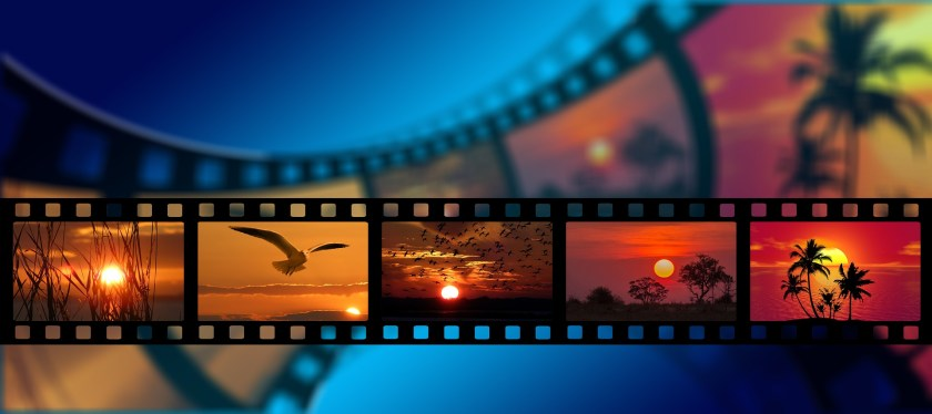 film strip with a sunset in frame
