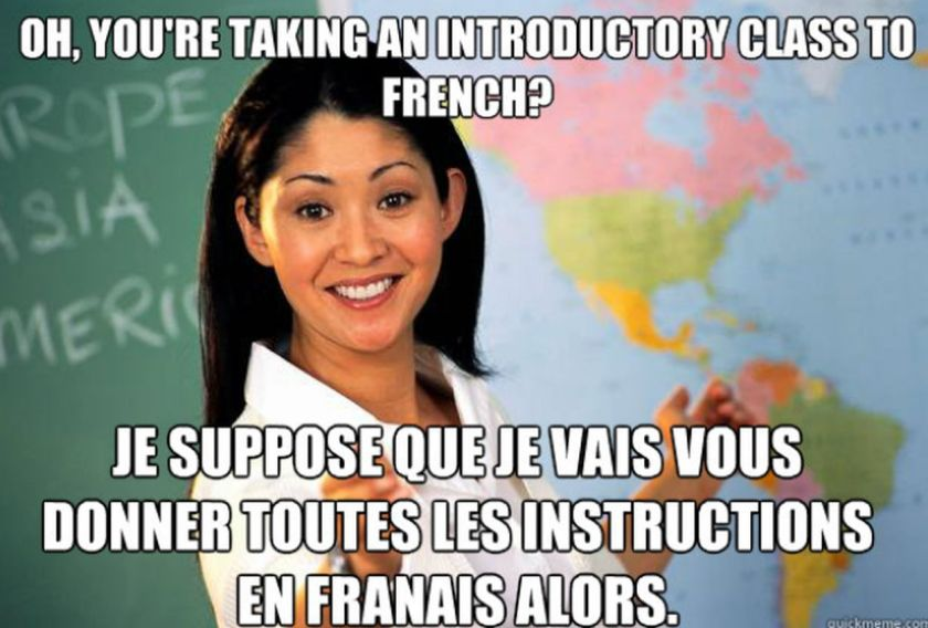 Learning French is cool for international students