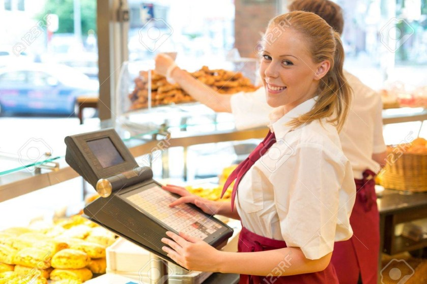 A scholar working as a cashier
