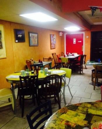 Sitting area at harburgh cafe