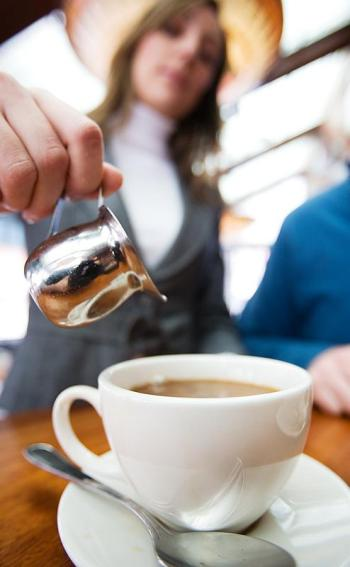 serving of tea at WSA cafe