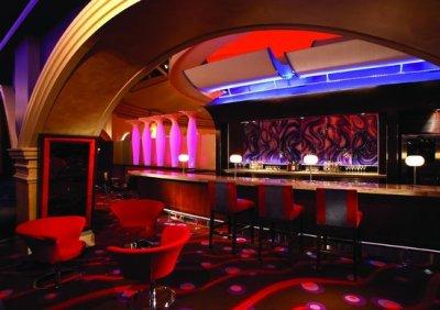 VU bar counter and sitting area