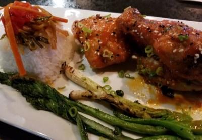 chicken meal serving at underground barrel