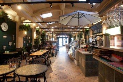 inside of cafe hall