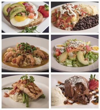 Different food platters of Midtown Cafe