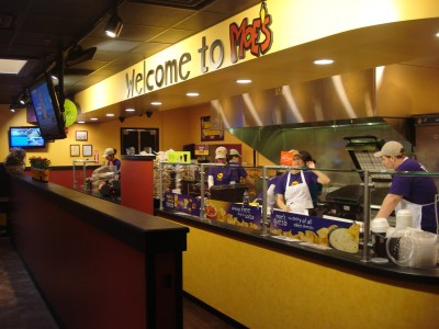 Food counter of cafe