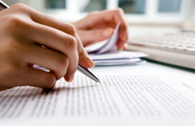 a document in drafting process