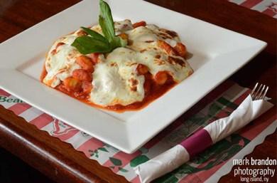 a plate of lasagna