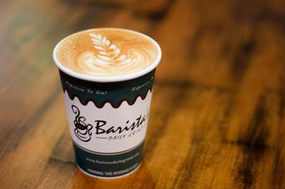 A nice coffee at Baristas Daily Grind