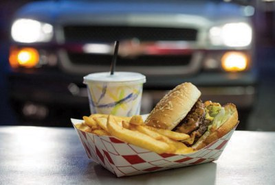 burger fry and drink combo