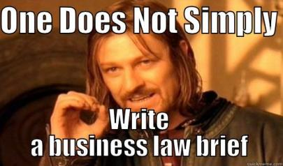 This is a funny picture of business law