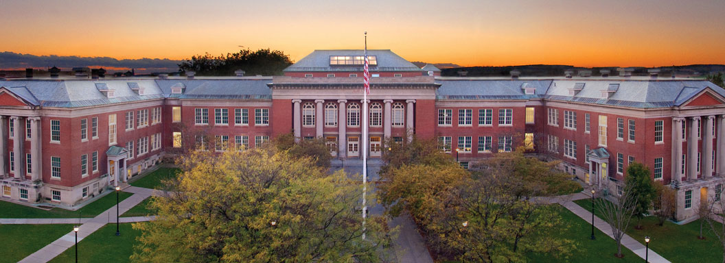 A sunset view of SUNY Cortland