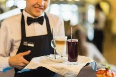 Server with beverages