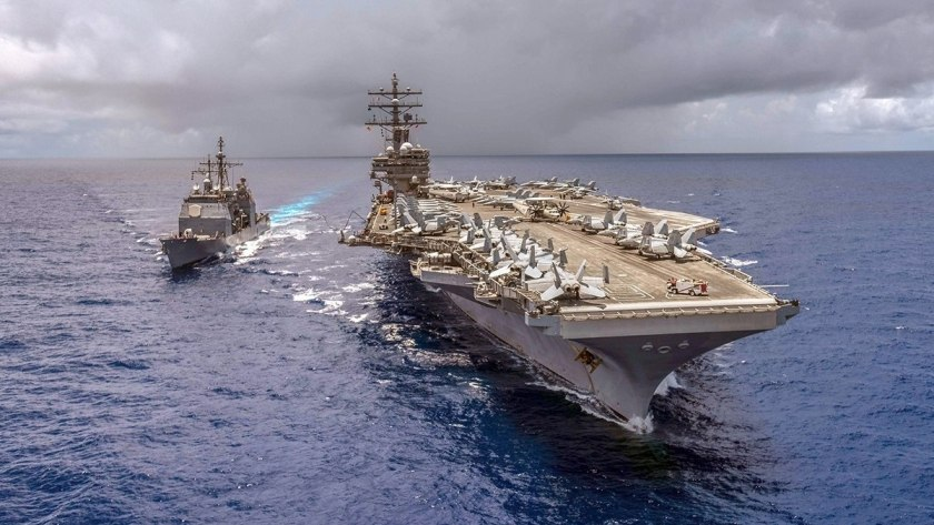 US Navy out on patrol.