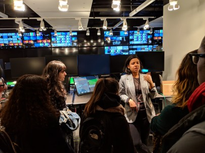 Students on tour at ABC news