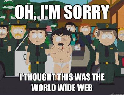 funny carton representation of The World Wide Web