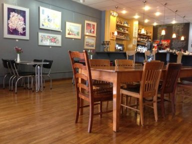Interior of True cafe