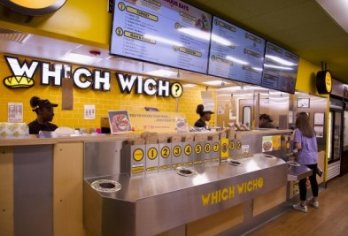 Which Wich Cafe is located inside the Connell Food Court
