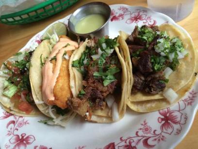 a platter of tacos
