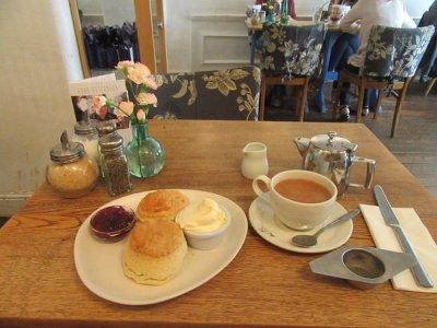 cream tea with biscuits