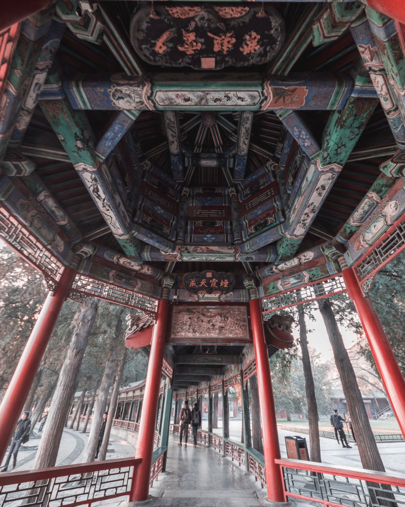 Ancient and historic Chinese temple to showcase the beauty of the traditional attractions of China. A great benefit to the easiest job of teaching abroad.