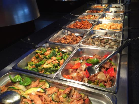 buffet set up of chinese food