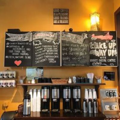 coffee and chalk boards