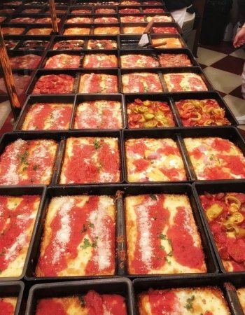 Pizza collection of Lions & Tigers & Squares Detroit Pizza
