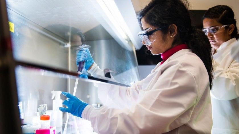 A bio engineer in  a lab