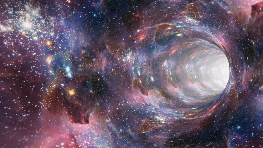 Picture of the universe and many stars
