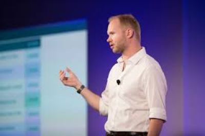 A man giving presentation