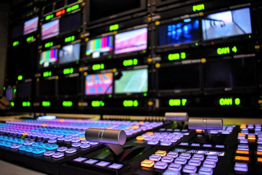a broadcast control panel